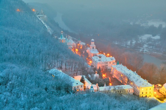 Ukraine, Donetsk district,  Sviatohirsk Cave Monastery.
