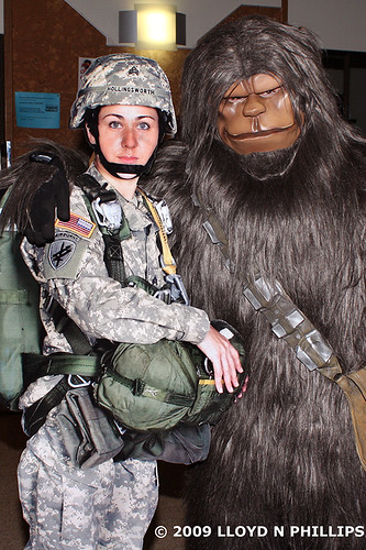 Chewbacca Poses With a Member of the Armed Services... | by Lloyd N Phillips (formerly Green Lantern2008)