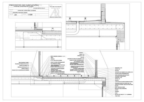 Detalle constructivo acceso terraza sal n aprende con sergio - Cubierta sobre plots ...