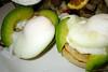 the avocado poached eggs