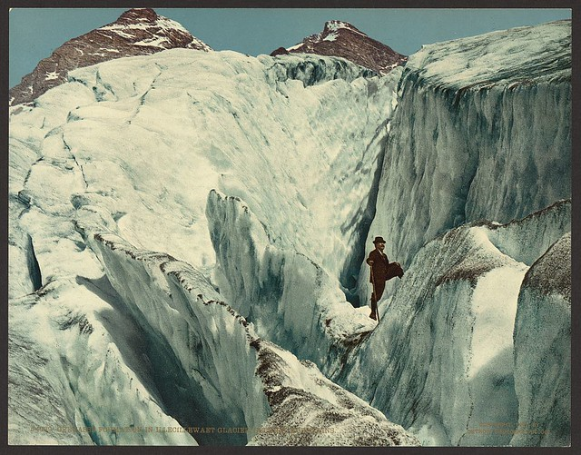 Crevasse formation in Illecillewaet Glacier, Selkirk Mountains (LOC)