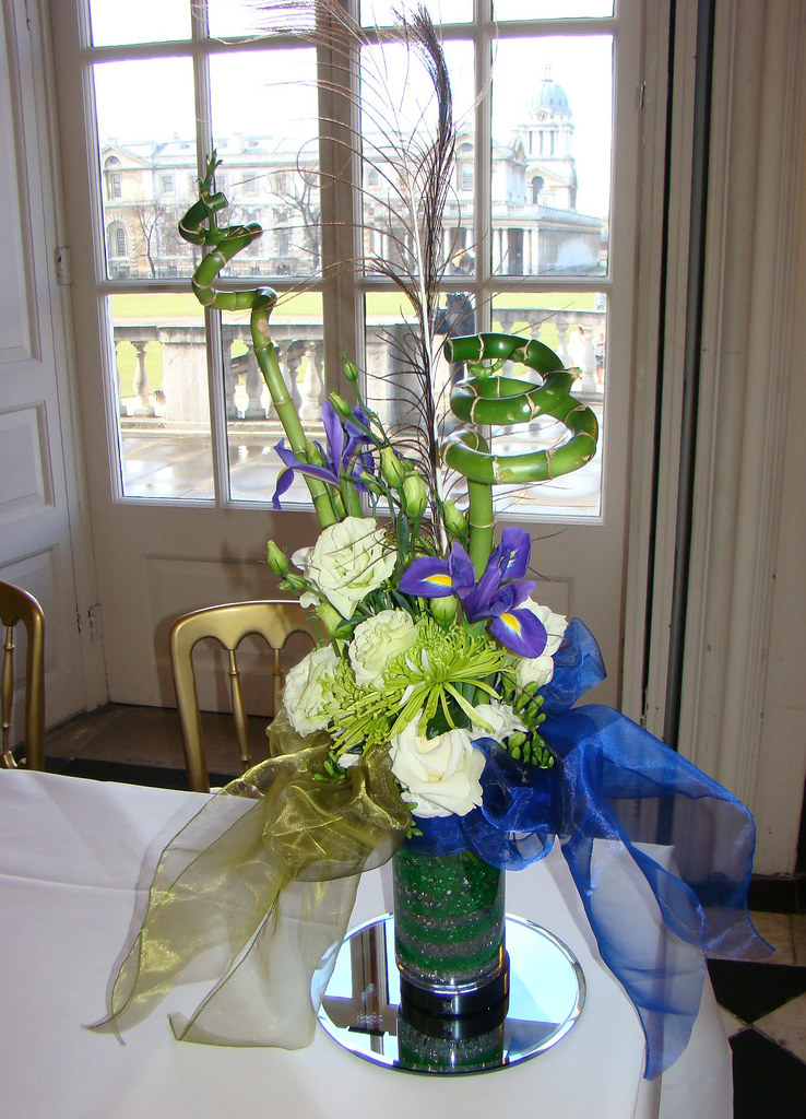 Gay Corran wedding flower arrangement