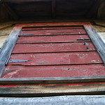The red attic window of the Sauna