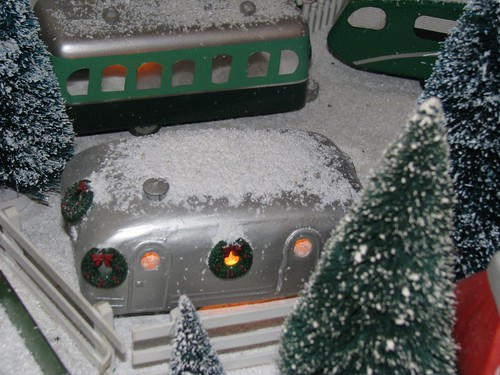 Toy Trailer in Christmas Scene