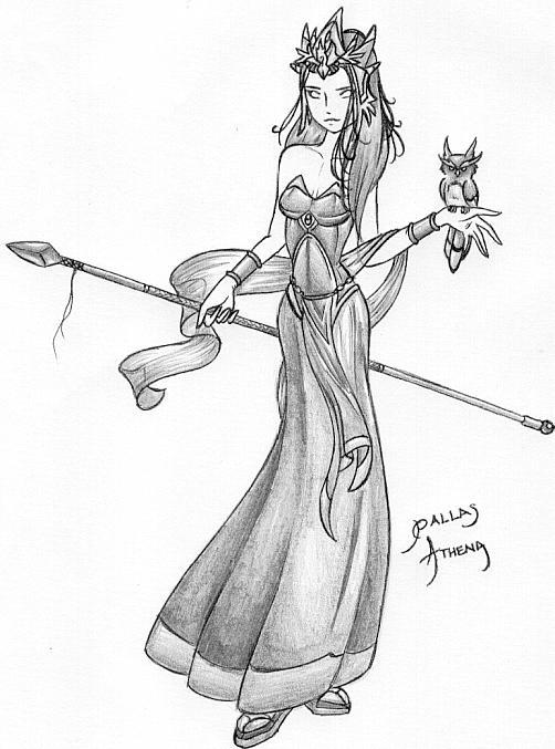 Athena Drawing Athena Drawing Original 502