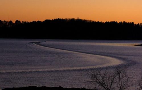 sunset lake water landscape evening boat fishing wake dusk shoreline shore lakelanier nikond80