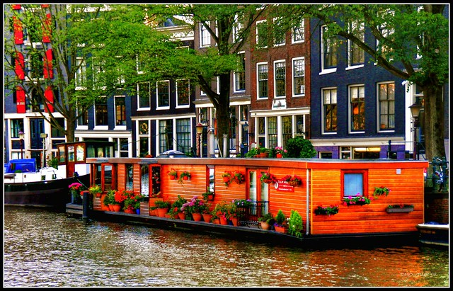 Amsterdam House Boat Flickr Photo Sharing