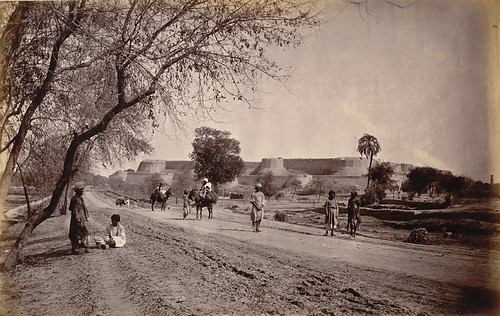 GT Road, Peshawar Fort and surroundings from Jail 1878 AD