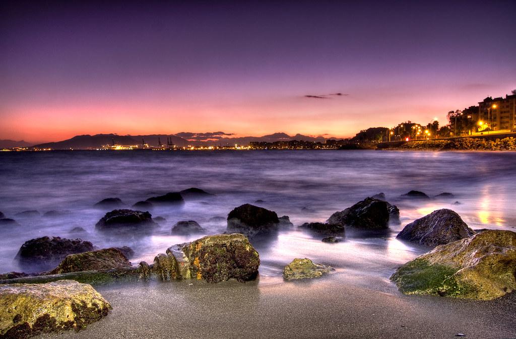 Colores Del Atardecer Playa De Los Banos Del Carmen Mal Flickr