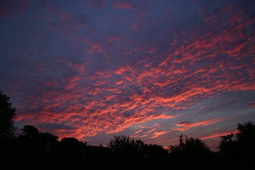 sky silhouette sunrise