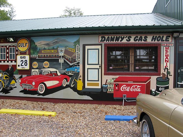 Route 66 mural in fanning missouri flickr photo sharing for Route 66 mural