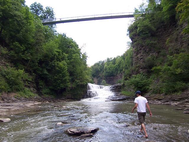 nathan & the suspension bridge
