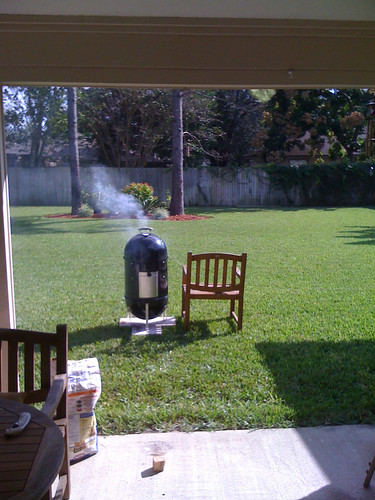 Weber smoky mountain cooker