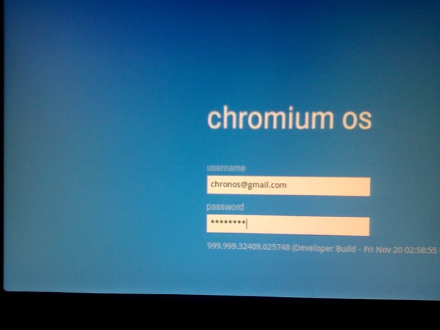 Chrome os, finally testing