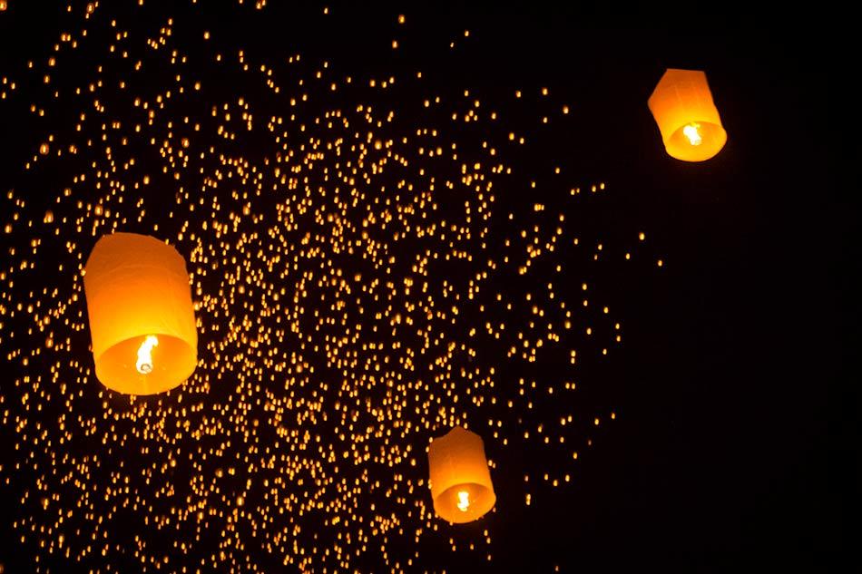 The Yi Ping Lantern Festival, Chiang Mai Thailand