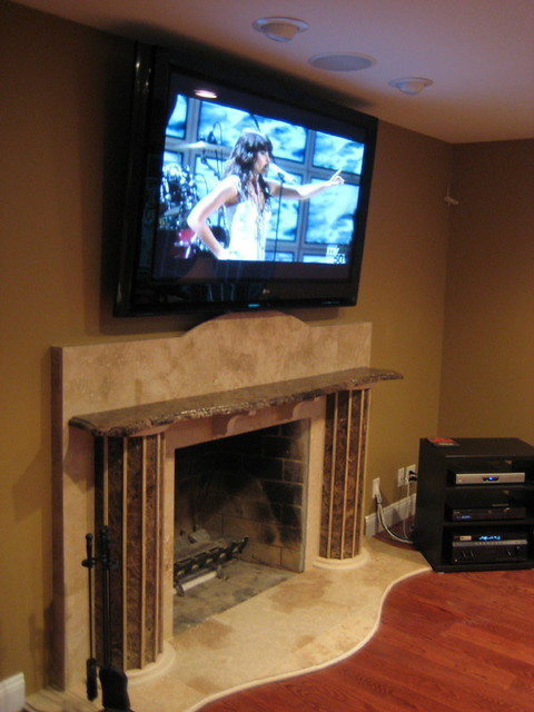 plasma tv over fireplace flickr photo sharing