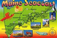 Maine Seacoast Map Postcard Available Erin Flickr
