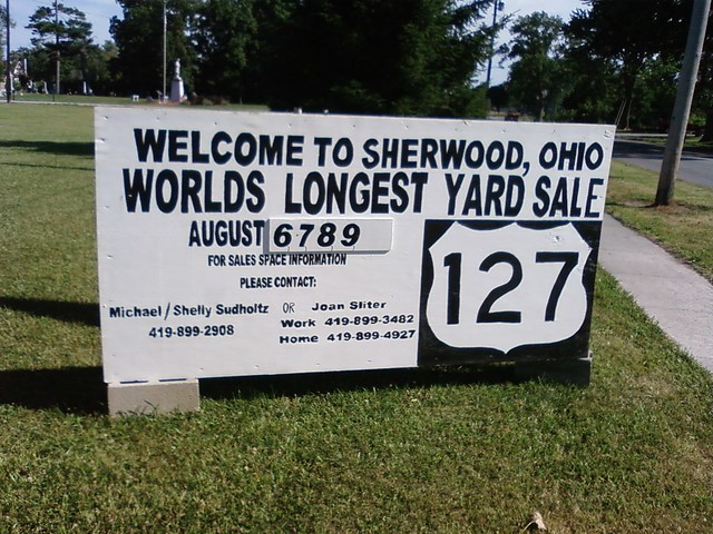 Worlds Longest Yard or Garage Sale   Runs from West Unity ...