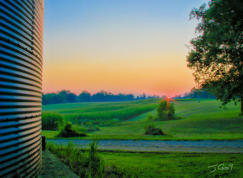View by the grain bin