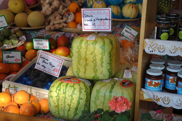 Square watermelon munich germany munique alemanha - Square watermelons how and why ...