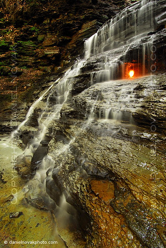 park blue usa newyork nature water rock creek forest wonder flow fire us photo waterfall buffalo woods stream unitedstates natural image picture upstate hike gas ridge trail flame photograph elements short western grotto chestnut gorge preserve eternal shale 1000l4 americanw09