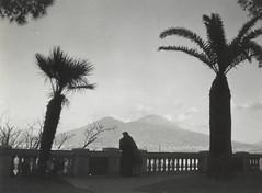 Unidentified couple watching Mt. Vesuvius, Naples, Spring 1944