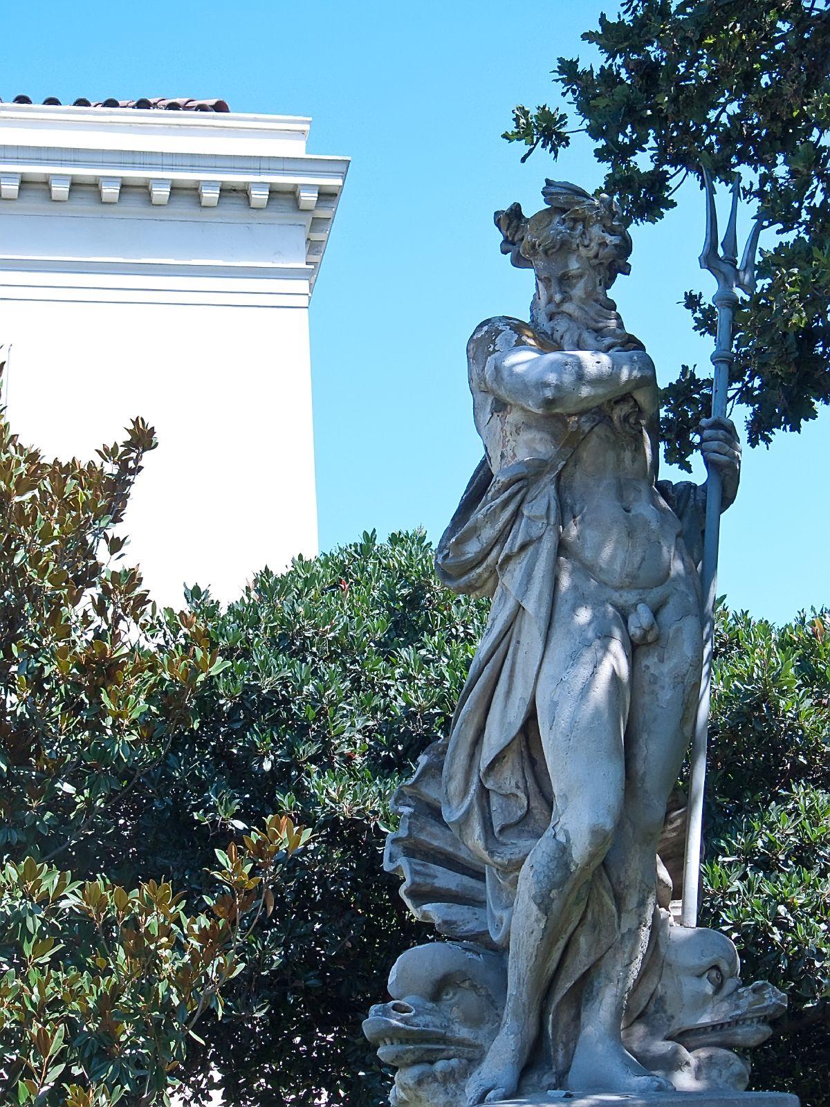 Sculpture Of Neptune At Huntington Gardens Pasadena California Flickr Photo Sharing