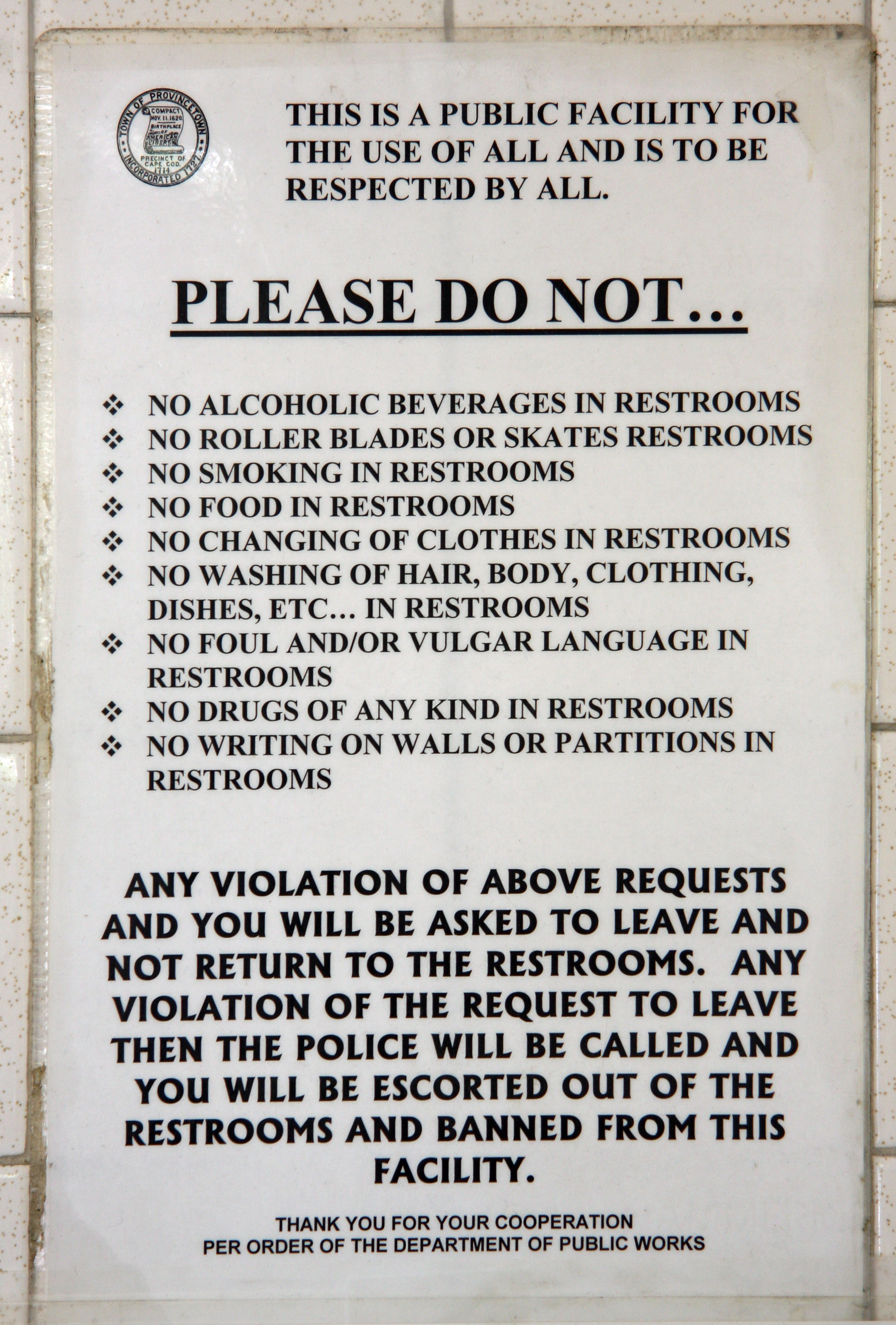 Restroom Rules Flickr Photo Sharing
