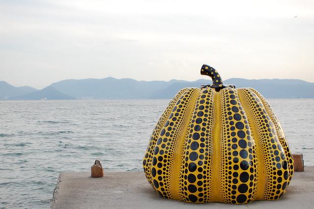Yellow pumpkin, Yayoi Kusama