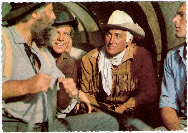 Stewart Granger and Götz George in Unter Geiern