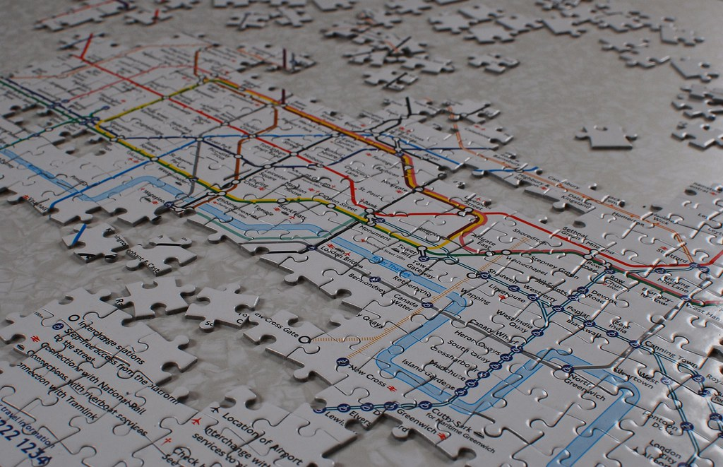 Tube map jigsaw puzzle