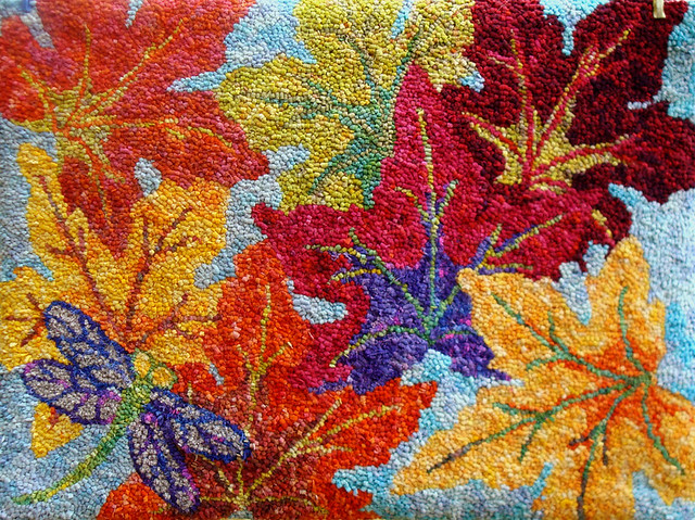 maple leaves rug