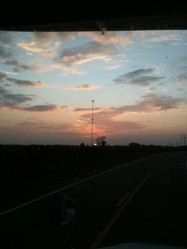 sunset georgia ontheroadagain bugsplat throughmywinshield