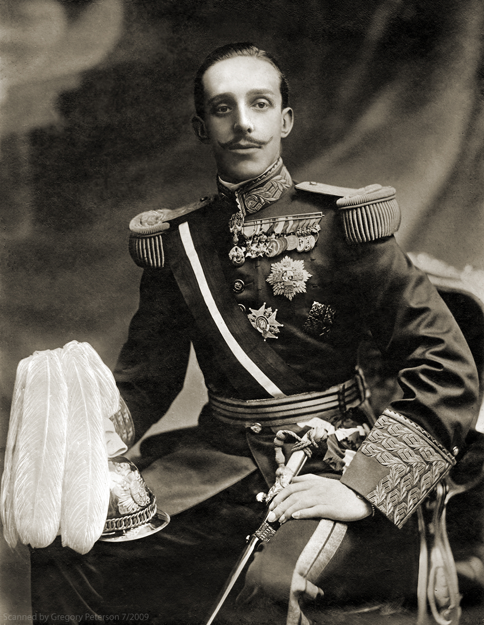 Spanish King Alfonso XIII in Uniform - a photo on Flickriver
