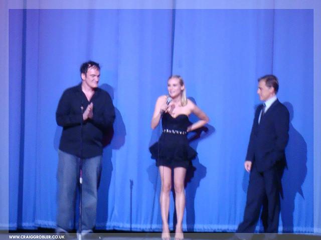 Inglourious Basterds UK Premiere - Quentin Tarantino , Diane Kruger & Christoph Waltz intoducing Inglourious Basterds