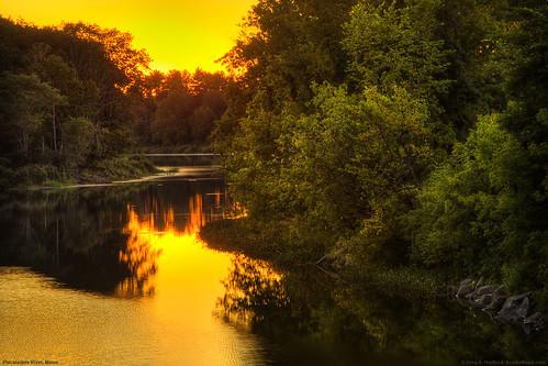trees sunset reflection yellow river landscape hdr breathtaking dover doverfoxcroft piscataquisriver piscataquis piscataquiscounty doverfoxcroftmaine infinestyle platinumheartaward breathtakinggoldaward