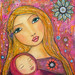 Mother Baby Painting Art by Sascalia