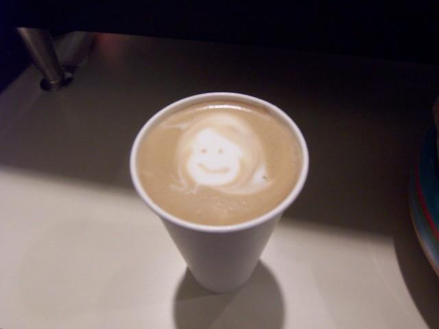 anna in a latte