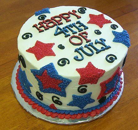 American Flag Smash Cake