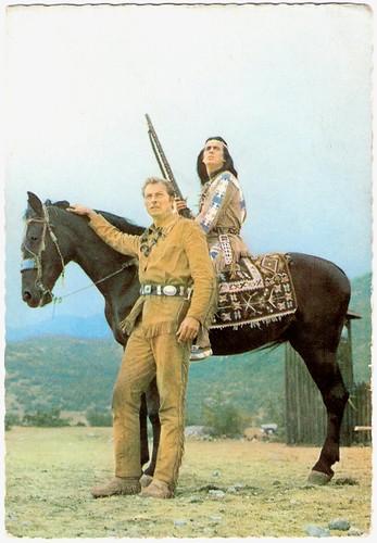 Lex Barker and Pierre Brice in Der Schatz im Silbersee