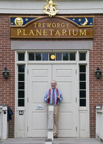 Don under the new Treworgy Planetarium sign