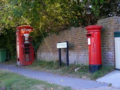 post box, telephone booth,