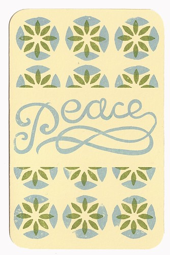 """holiday """"Peace"""" cards"""