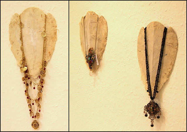 Hand-made necklace hanger