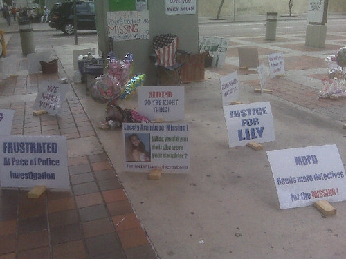 Justice for Lily Aramburo Hunger Strike Downtown Miami