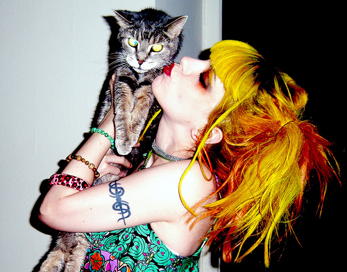 Me kissing my beautiful, amazing and sweet cat, Ms. Abbey
