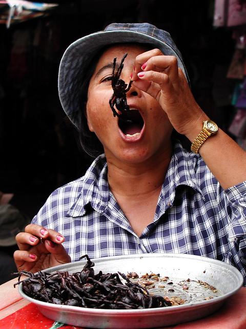 Fried Tarantula, Phnom Penh Cambodia