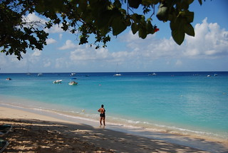 Barbados beachfront view of the Caribbean