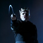 Richard Clothier (King Richard) in William Shakespeare's RICHARD III directed by Edward Hall at the Huntington. Boston University School of Theatre in association with Huntington Theatre Company presents Propeller Theatre Company in William Shakespeare's 'The Comedy of Errors,' performed in repertory with 'Richard III,' directed by Edward Hall, playing May 18 - June 19, 2011 at the Avenue of the Arts / BU Theatre. Photo: Manuel Harlan