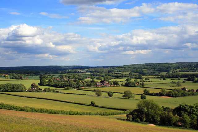 View from North Downs Way towards Kemsing, Kent